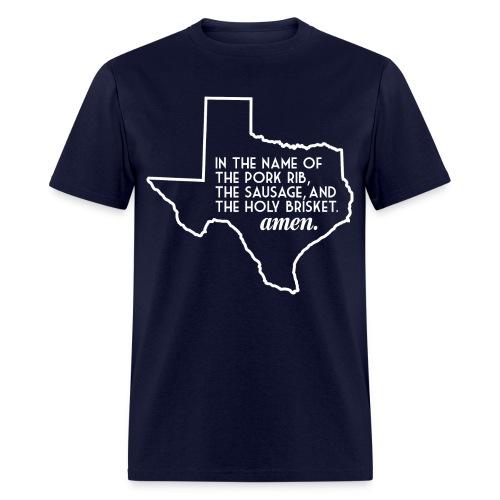 The Texas BBQ Prayer - Men's T-Shirt