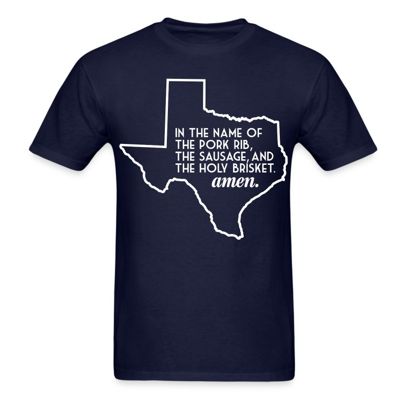 The Texas BBQ Prayer - Men's T-Shirt