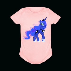 Moon Princess Unicorn - Short Sleeve Baby Bodysuit