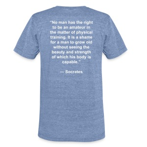 RRL Socrates Quote - Unisex Tri-Blend T-Shirt