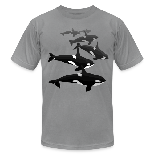 Orca T-shirts Killer Whale Art Jersey Shirts - Men's T-Shirt by American Apparel