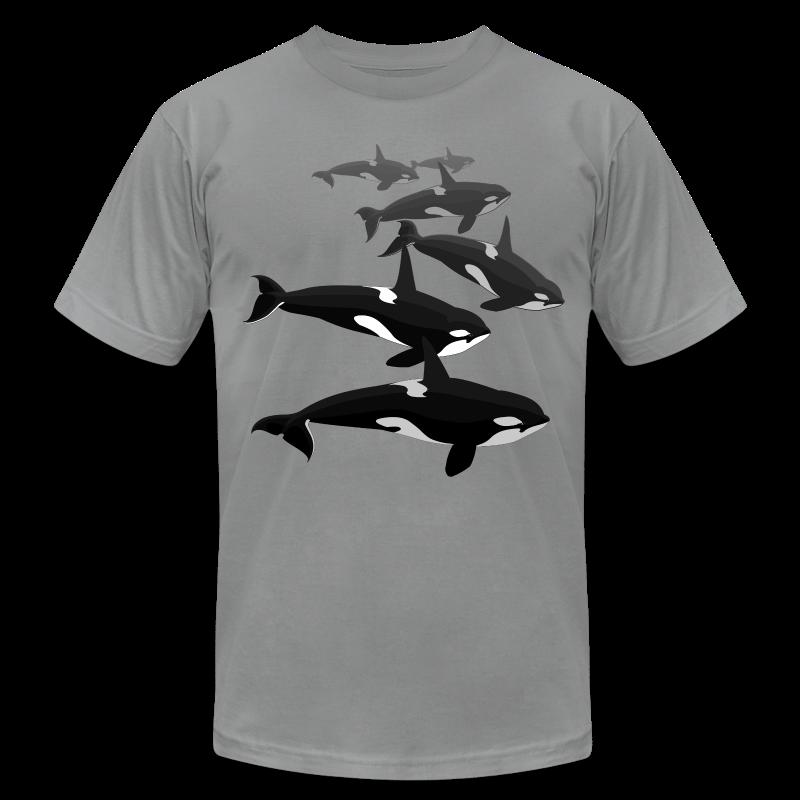 Orca T-shirts Killer Whale Art Jersey Shirts - Men's Fine Jersey T-Shirt