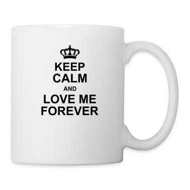 keep_calm_and_love_me_forever_g1 Bottles & Mugs