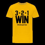T-Shirts ~ Men's Premium T-Shirt ~ 3-2-1 WIN Gold T-Shirt