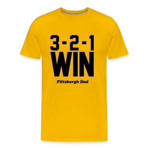 3-2-1 WIN Gold T-Shirt - Men's Premium T-Shirt