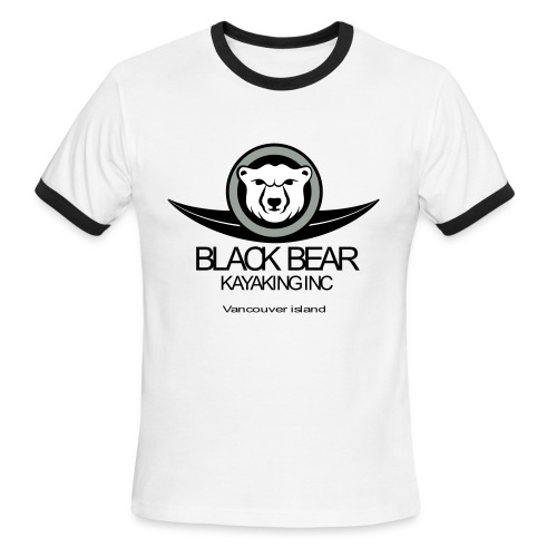 Black Bear Kayak T-Shirt - Men's Ringer T-Shirt
