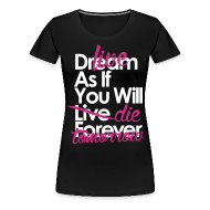T-Shirts ~ Women's Premium T-Shirt ~ Live As If You Will Die Tomorrow