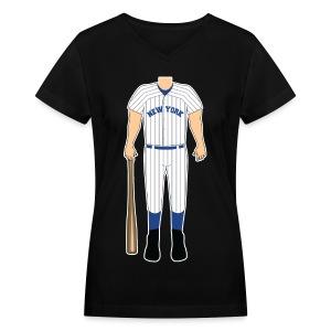 NY V-neck - Women's V-Neck T-Shirt
