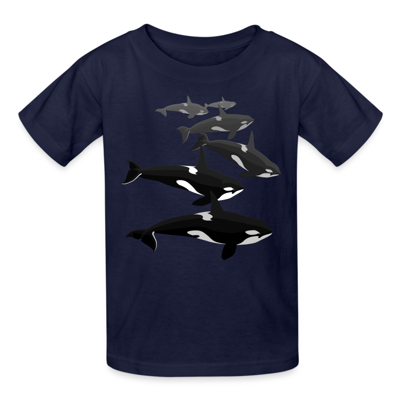 Orca Shirts Kid's Killer Whale T-shirts Whale Art T-shirt - Kids' T-Shirt