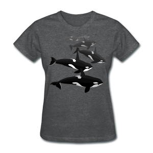 Orca Shirts Women's Killer Whale T-shirts Whale Art T-shirt - Women's T-Shirt