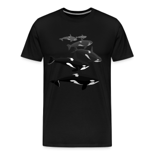 Orca Whale T-shirt Men's Killer Whale Shirts Sm - 5xl - Men's Premium T-Shirt