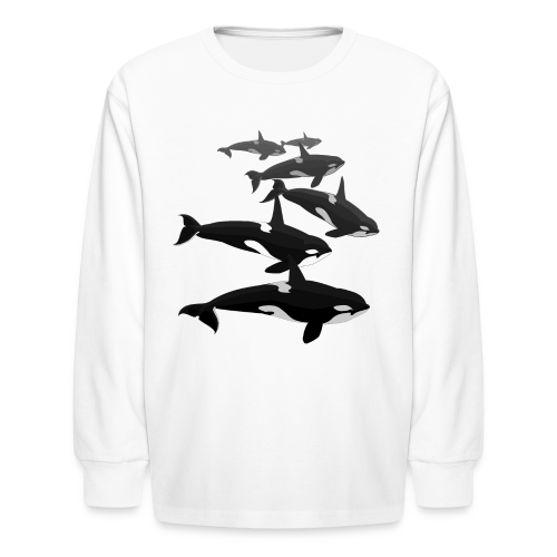 Orca Shirts Kid's Killer Whale T-shirts Whale Art T-shirt - Kids' Long Sleeve T-Shirt