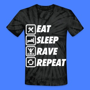 Eat Sleep Rave Repeat T-Shirts - Unisex Tie Dye T-Shirt