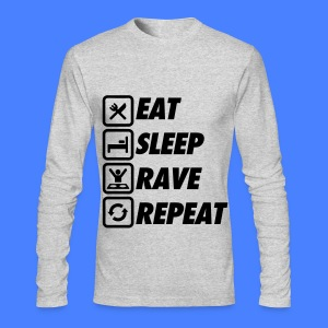 Eat Sleep Rave Repeat Long Sleeve Shirts - Men's Long Sleeve T-Shirt by Next Level