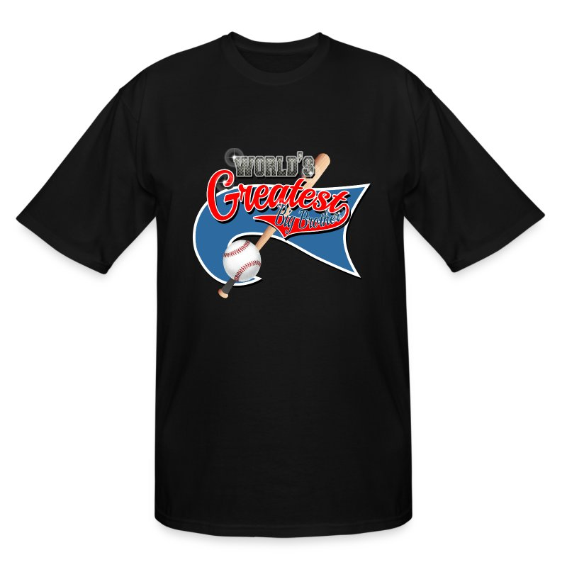 Worlds greast big brother baseball park flag t shirt for Design your own t shirt big and tall
