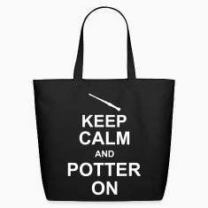 keep_calm_and_potter_on_g1 Bags & backpacks