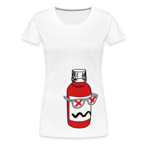 Women's Premium T-Shirt - [faded line one back] American Apparel higher quality tee