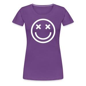 Women's Premium T-Shirt - Faded Smiley