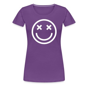 Women's Premium T-Shirt - Faded Smiley