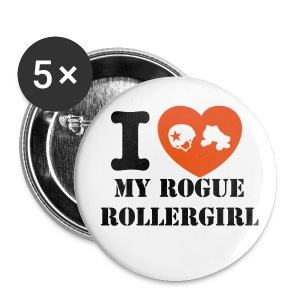 I love Rogue Rollergirl - Large Buttons