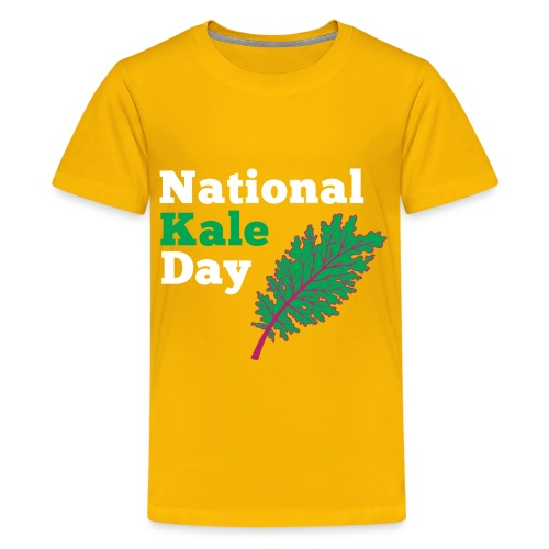 Kale Kids Yellow T - Kids' Premium T-Shirt