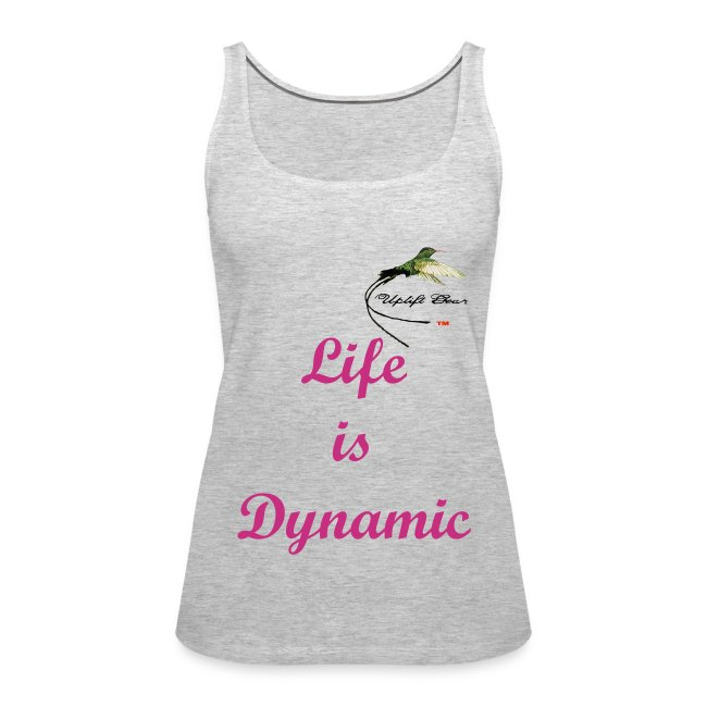 Womens Heather Gray Life Is Dynamic Tank Top