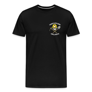 Underground Explorers Black Heavyweight Logo Tee - Men's Premium T-Shirt