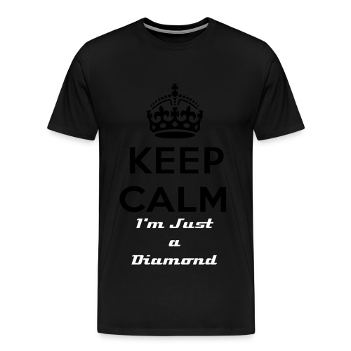 Keep Calm Diamond Blk - Men's Premium T-Shirt
