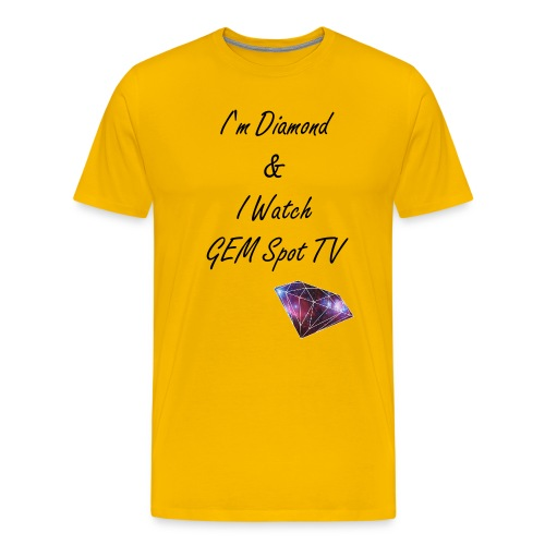 I watch Gem Spot TV Yellow - Men's Premium T-Shirt