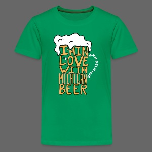 I'm In Love With Michigan Beer - Kids' Premium T-Shirt