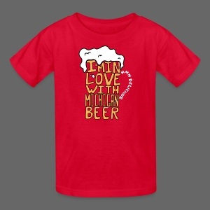 I'm In Love With Michigan Beer - Kids' T-Shirt
