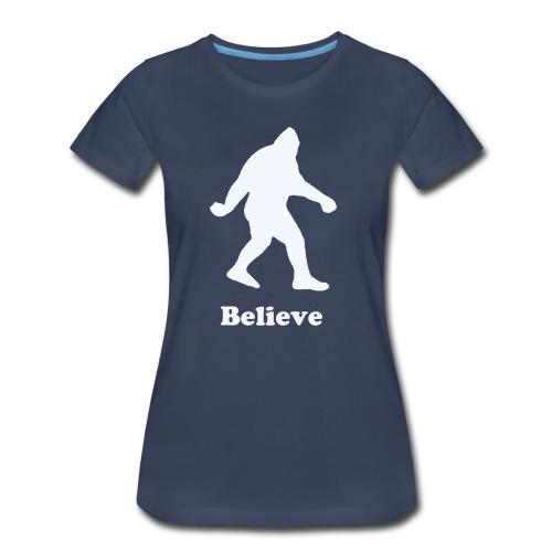 Women's Bigfoot Believe T-Shirt - Women's Premium T-Shirt