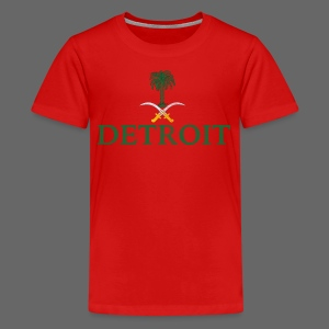 Detroit Saudi Arabia Flag - Kids' Premium T-Shirt