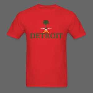 Detroit Saudi Arabia Flag - Men's T-Shirt