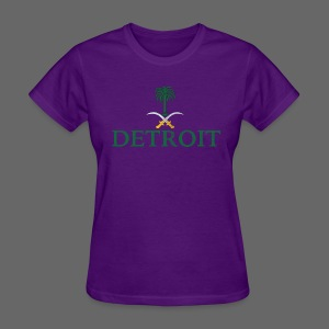 Detroit Saudi Arabia Flag - Women's T-Shirt