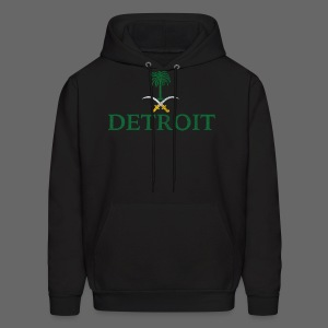Detroit Saudi Arabia Flag - Men's Hoodie