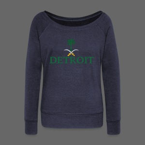 Detroit Saudi Arabia Flag - Women's Wideneck Sweatshirt