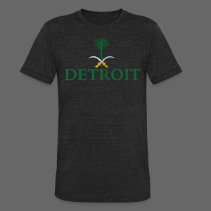 Detroit Saudi Arabia Flag - Unisex Tri-Blend T-Shirt by American Apparel
