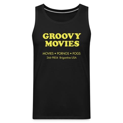 Groovy Movies - Tank - Black - Men's Premium Tank