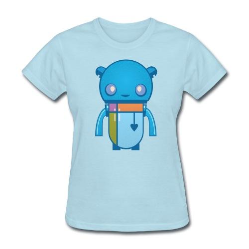 Blue Robot T-Shirt - Women's T-Shirt