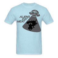 T-Shirts ~ Men's T-Shirt ~ SKYF-01-060 alien eats meat
