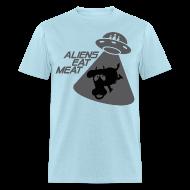 T-Shirts ~ Men's T-Shirt ~ SKYF-01-060 alien eats meat