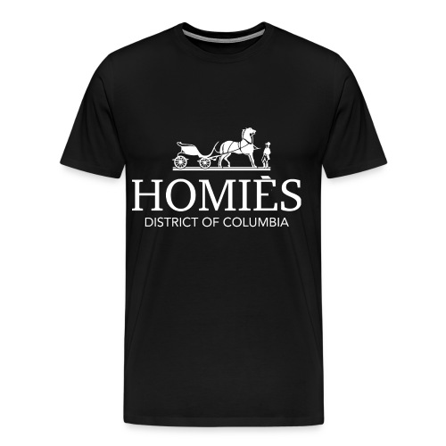 The D.C. HOMIES Tees in Black - Men's Premium T-Shirt