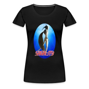 Saga Ladies Sagacity Tour shirt 2014 - Women's Premium T-Shirt