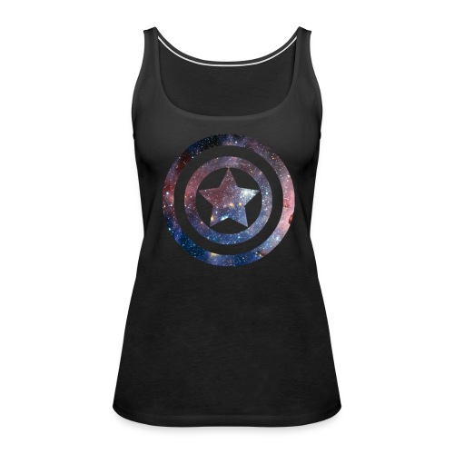Captain America Space Shirt - Women's Premium Tank Top
