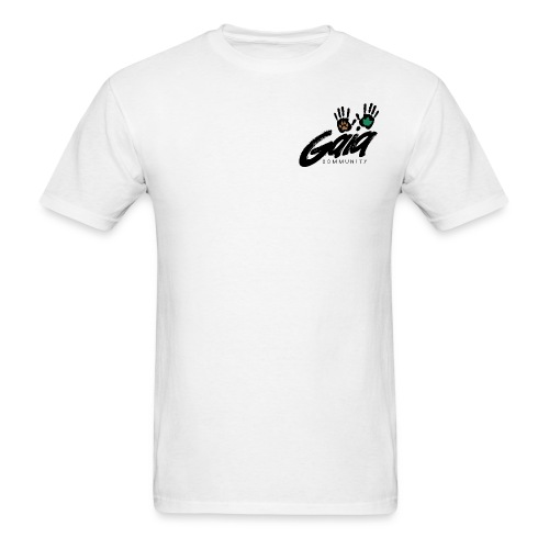 Boxy fit white logo t-shirt - Men's T-Shirt