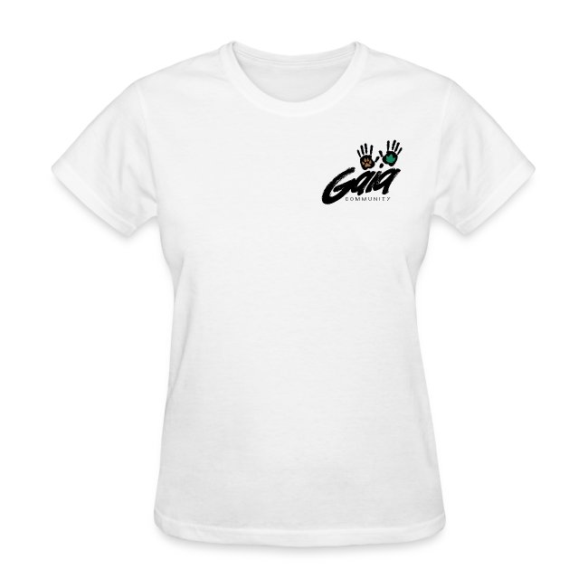 Curvy cut logo t-shirt