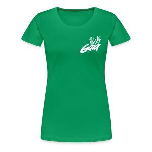 Curvy cut logo shirt on bright colors - Women's Premium T-Shirt