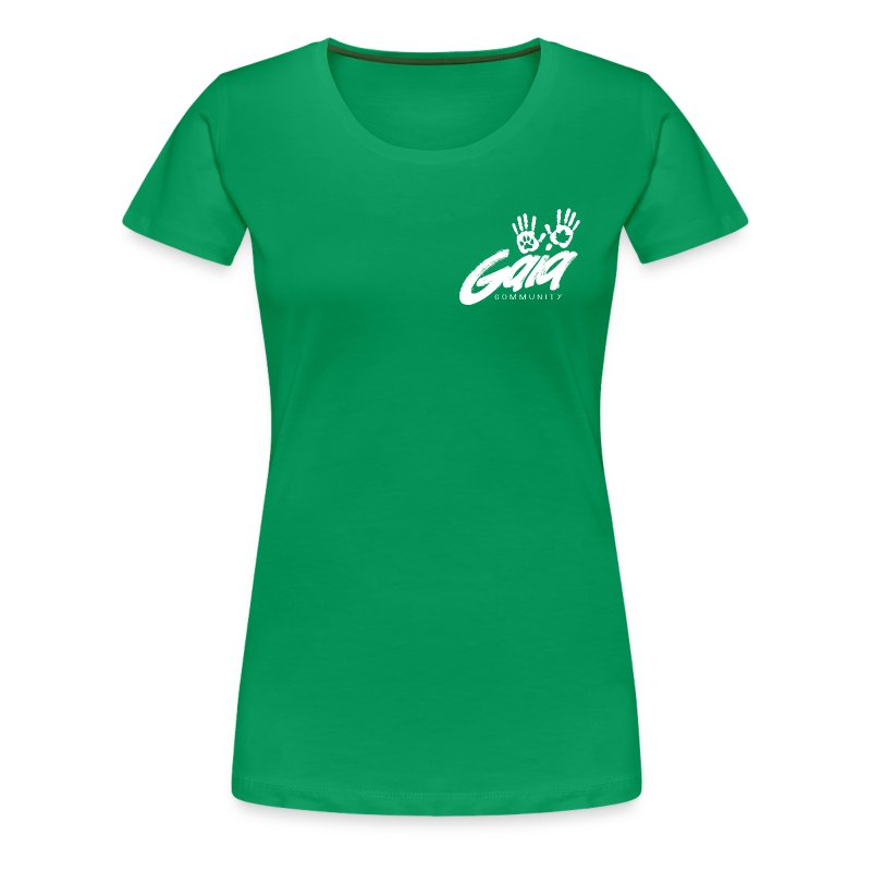 Curvy cut logo shirt on bright colors - Women's Premium T-Shirt