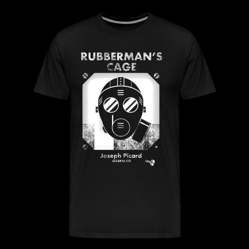 Rubbermans Cage- Gas mask logo - Men's Premium T-Shirt
